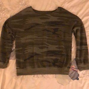Zoe + Liv camo sweatshirt
